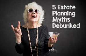 older lady with martini needs estate plan