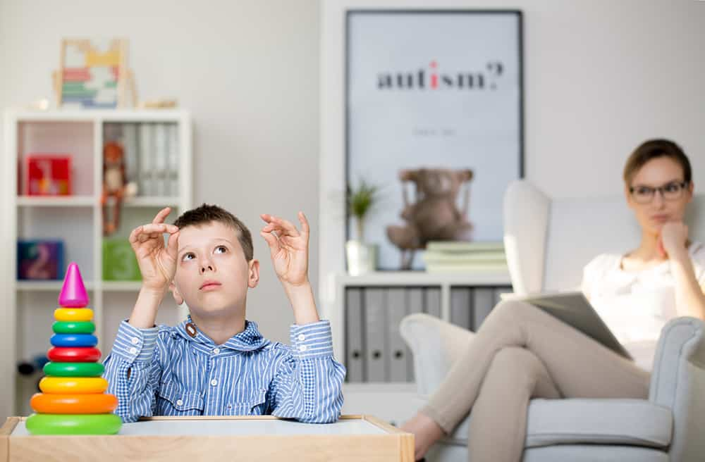 Autistic Child Being Observed