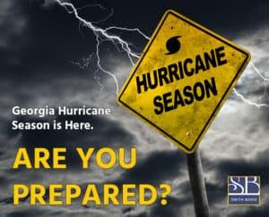 Hurricane warning sign in Georgia