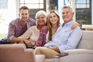 family with adult children talking about estate planning
