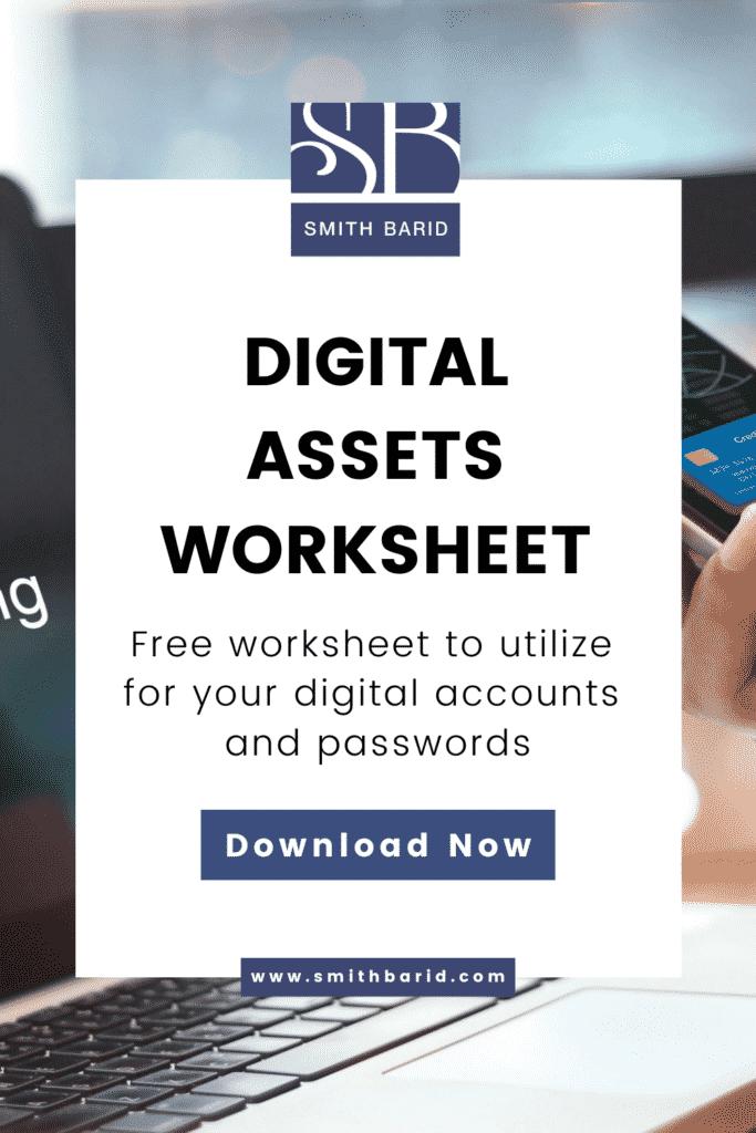 Digital Assets Worksheet for Estate Planning